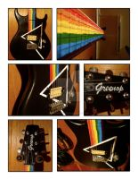 Dark Side of the Moon Guitar by GreenopPhotos