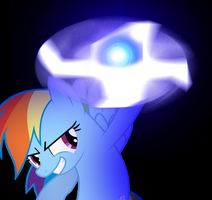 Rainbow Dash doing the Rasen Shuriken by DigiRadiance