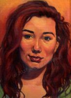 Portrait of Tori Amos by greyviolett