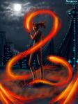 Sol Firebending in The Sunset City Night by SolKorra