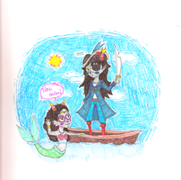 The Pirate and the Mermaid by Juleebean