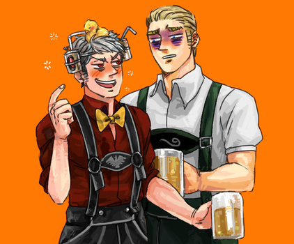 Hetalia - Prussia and Germany by weaselyperson