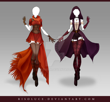(CLOSED) Adoptable Outfit Auction 130-131 by Risoluce