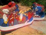 Sonic 'Light Speed' dunks-fivE by meberra
