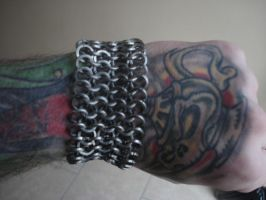 Chainmaille Bracer Art Trade2 by patchwork-steve