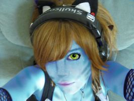 Cat as a Na'vi by TheDeathIsCandy