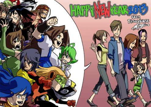 Happy New Year 2013 from Eisuverse by eisu