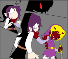 Band of Darkness, the monster, vio? comic by OniChick63