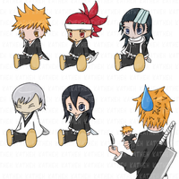 Bleach: Character Plushies by Katheh