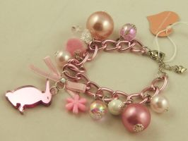 Pink Mirror Bunny Bracelet by SweetandCo