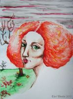 The girl with red hair. by TariWonka