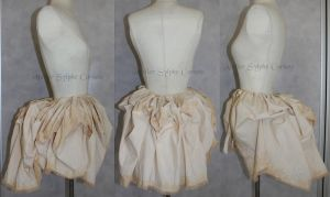Victorian tea dying bustle over skirt with ruffle by AtelierSylpheCorsets