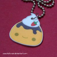 Flan Dessert Necklace by Keito-San