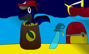 Jackson And The Pikle Barrel by fossil-fighter