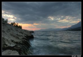 Makarska - Sunset 3 by Klek