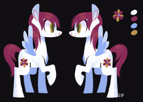 (auction) flower pegasus pony by spacekitsch