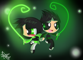 Butchercup: Green rays. by X-Hopeless-Kitten-X