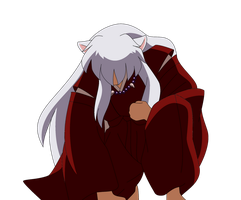 Mournful Inuyasha by Inumaru101