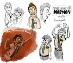 The Book of Mormon doodles by Frozenspots