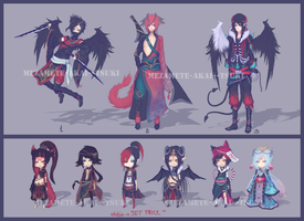 Adoptables Mix 2nd ( closed) by Mezamete-Akai--Tsuki