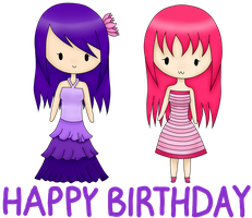 Happy birthday to Lina and Monki Year 2 by Yumichan216