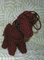 Brown Crocheted Horse by Eliea