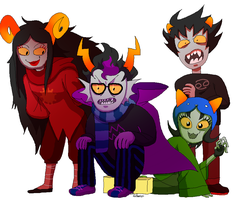 Crudely Drawn Trolls by PalaceOfChairs