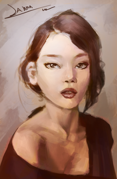 [Study]Portrait10m by atadtoad