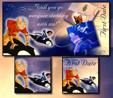 Katara and Aang's First Date by piandaoist