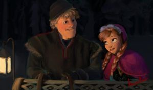 Anna and Kristoff by huntererinful