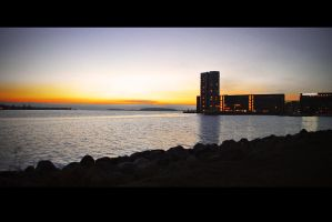 aalborg city sunset by Clipse89