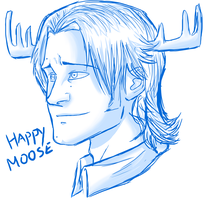 Happy Moose by Echoes-Of-Ruins