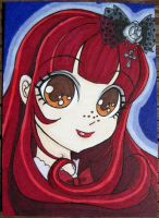 Poupee Girl ACEO - Color by FoxyKitsuneko