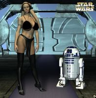 Hot Twilek n R2D2 by XSkullheadX