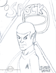 Spock drawing by Dragonrage19