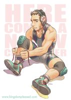 Pin up - Wrestling dude by keigo-mak