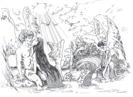 Angels and mermaids by Miligramo