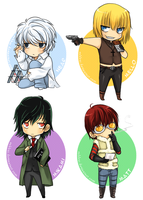 Death Note Chibis -set 2- by Robbuz
