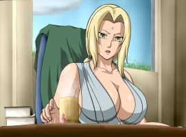 Coffee time for Tsunade by KaenDD