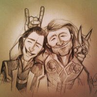 Thor and Loki Picture by HashtagGenius