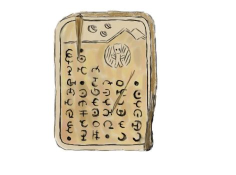 Ancient Betazoid Glyph Tablet by AJHalliwell