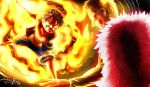 Luffy vs Dofflamingo - Red Hawk by Densferea