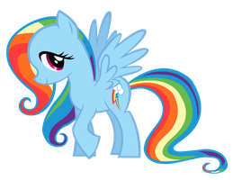 Rainbowshy vector by Durpy