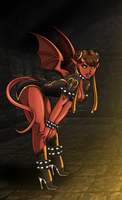 Street Fighting Succubus (Halloween 2014) by Re-Maker