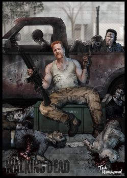 Abraham-Walking dead by ted1air