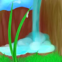 Grass waterfall by ifAnyoneCould