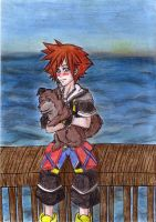 Sora and Dog by Riku1988