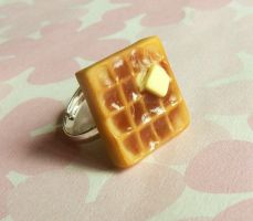 the waffle ring - polymer clay by ScrumptiousDoodle