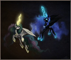 Duel of royal sisters by Vongrell