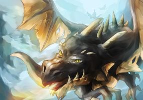 Black Wyvern by DamnedSlacker